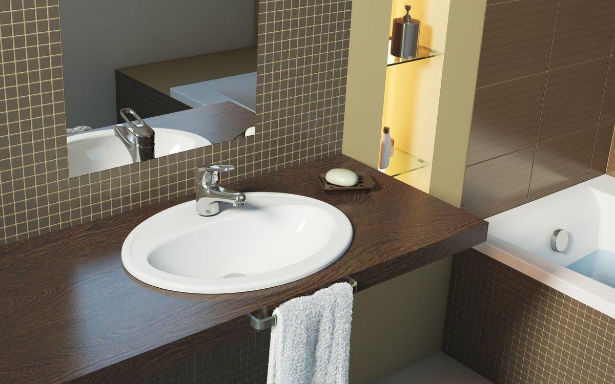 Как выбрать столешницу для ванной комнаты